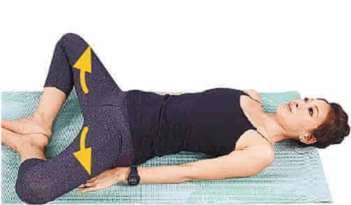 女人,简单睡前减肥操,让你瘦出完美身形!